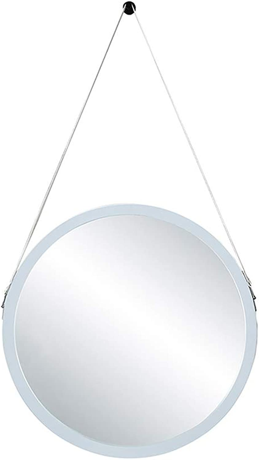 ZYear Modern Vanity Mirror White Round Wall Mirrors for Bathroom Bedroom with Lanyard Multiple Sizes (Size   11.8in)