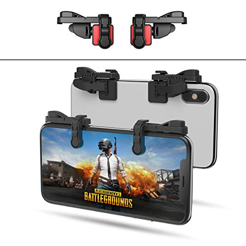 【1 Paar】 Handy Mobile Game Controller Tragbar Gaming Gamepad für PUBG Mobile/Fortnitee Mobile/Call of Duty(COD) Mobile, für iPhone/Android, IFYOO Z108 Feuer Shooter Tasten Griff L1 R1 Triggers