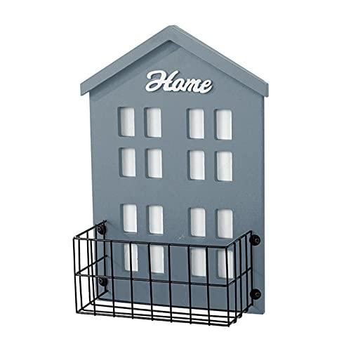 Decoración de pared para casa pequeña y dulce, decoración para pared, salón, dormitorio, cesta de metal, decoración colgante minimalista