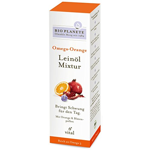 Bio Planete - Omega Orange Leinöl-Mixtur - 100 ml