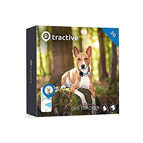 Tractive 3G Dog GPS Tracker - Lightweight and Waterproof Dog Tracking Device and pet Finder with Unlimited Range