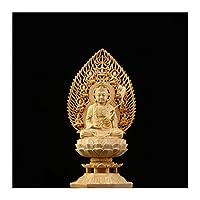 28cm 8ゴジドパタロンセント風Shuiソリッドウッドブッダ像菩薩平和ラッキー彫刻 (色 : D)