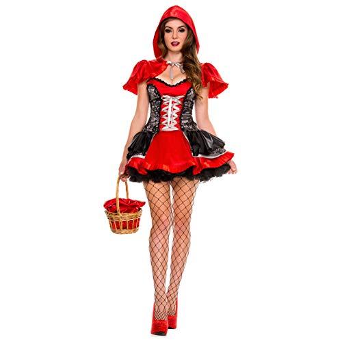 GBYAY Disfraces de Caperucita Roja Disfraces de Halloween Fiesta de Festival de Mujeres Adultas Fantasía Fairy Tail Cosplay Sombrero