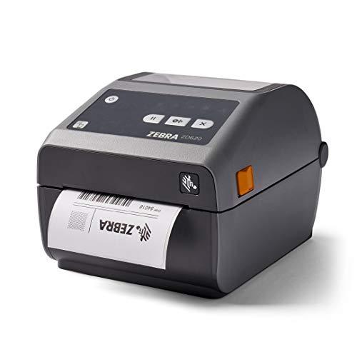 Zebra ZD620d Direct Thermal Desktop Printer 300 dpi Print Width 4 in WiFi Bluetooth Ethernet Serial USB ZD62043-D01L01EZ