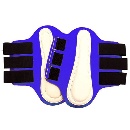 Intrepid International Splint Boots with White Leather Patches, Medium, Royal Blue -  245878