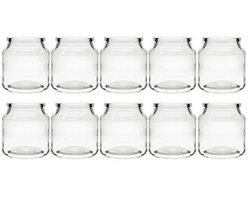 hocz Teelichtgläser Windlicht Set | 10 teilig | Typ 175 ml | Rund Hochwertiges Glas | Glasdose Glasgefäß Tischdeko Teelichtgläser (10 Stück)