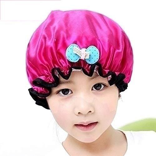 """N""""A 2 Paquets Bonnet De Douche Double Couche Bonnet De Bain élastique Imperméable pour Femmes Douche Spa Salon(Color:Rose)"""