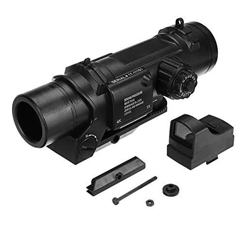 Rubber Armored 4X Magnifier for Holographic Red Dot Sight Scope, Vergrößerungsglas Bereich Magnification für Red Dot Sight Flip bis zur Seite Optiklinse Abdeckunge