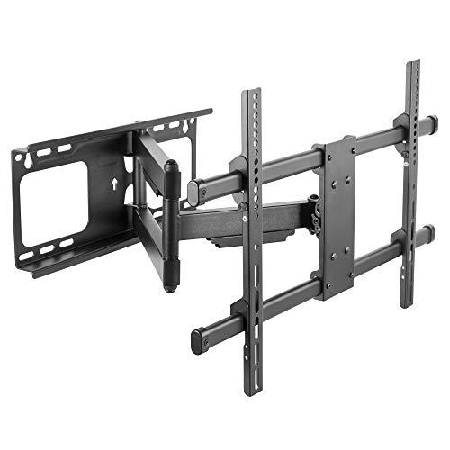 RICOO Fernseher TV Wand-Halterung Schwenkbar Neigbar (S4764) Fernsehhalterung Ausziehbar Universal für 37-65 Zoll (bis zu 60-Kg, Max-VESA 600x400) LCD OLED Curved Bildschirm