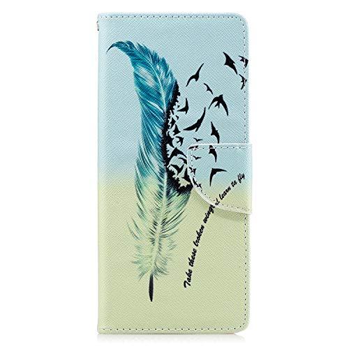 Lomogo Sony Xperia 10 Hülle Leder, Schutzhülle Brieftasche mit Kartenfach Klappbar Magnetverschluss Stoßfest Kratzfest Handyhülle Case für Sony Xperia10 - LOBFE050112#2