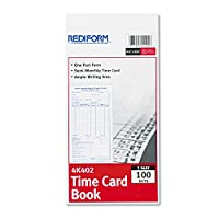 従業員時間カード、半月ごと、4–1/ 4x 8、100/パッド、1パッドとして販売