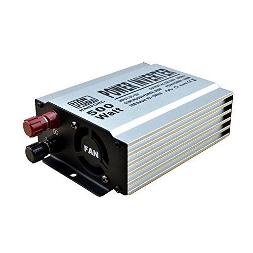Convertisseur@Power Inverter 500 W DC 12 V à CA 220V USB Convertisseur de puissance Alimentateur de l'onduleur Alimentation extérieure (Argent)