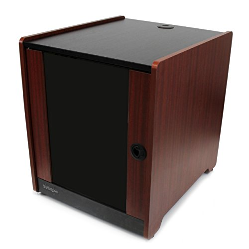 STARTECH.COM Armadio Server Rack 12U Rifinito in Legno con Rotelle a Profondita Regolabile da 42.3 cm a 52.3 cm, Fino a 136 kg