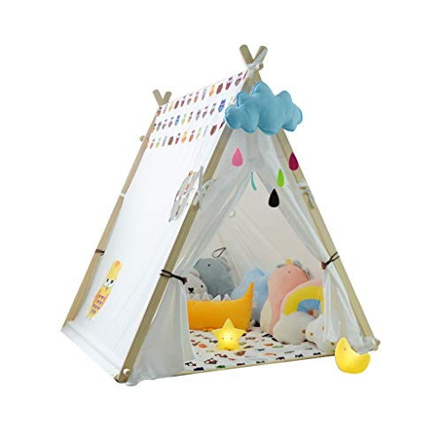 Tents Indoor Camping Game for Kids, Bedroom Playhouse Children Gifts for Birthday Reading Corner Decorative with Mat (Size : 130 * 100 * 130CM)