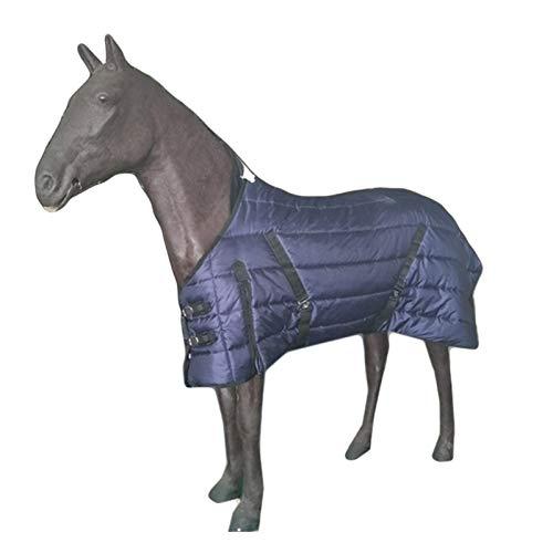 Winterpferdedecke, 210d wasserdichte Oxford-Tuch Sofort Pferd Straße Teppich, mittelgewicht Winter Polyester Baumwollfutter (Color : 135cm)