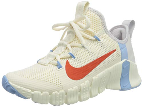 Nike Damen Free Metcon 3 Women's Training Leichtathletik-Schuh, Pale Ivory Team Orange Vast Grey, 40 EU