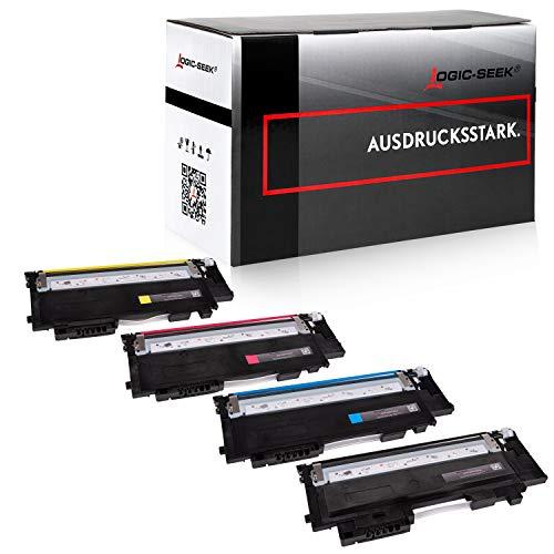 4 Toner kompatibel für Samsung Xpress SL-C430W/TEG C480W Farblaserdrucker - CLT-P404C/ELS - Schwarz 1500 Seiten, Color je 1000 Seiten