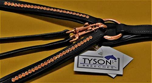 Tysons Breeches Vorderzeug Deister Rosegold Roségold Super BUTTERWEICHES Leder VB WB X Full (Pony)