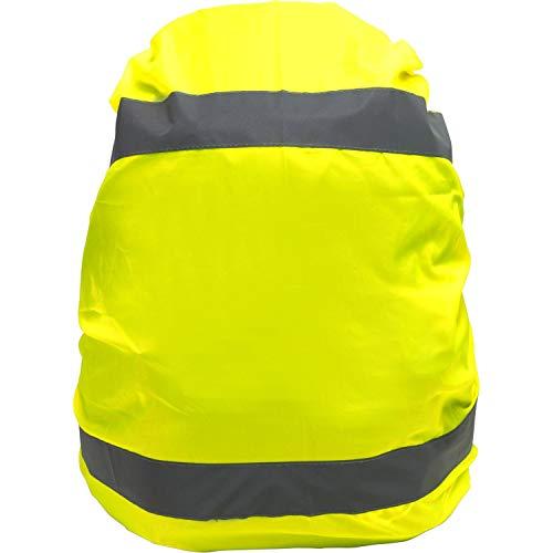 Unbekannt Rucksackschutz Regenschutz Gelb mit 2 Reflektorstreifen