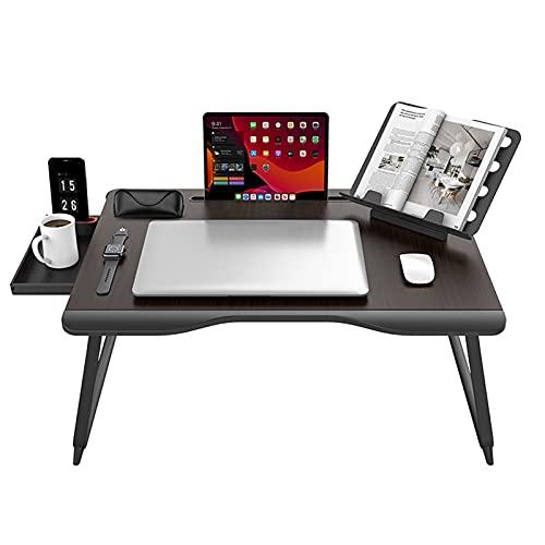 YGWANZD Escritorio casero de la Cama del Ordenador portátil, Puerto/sofá/sofá Plegables portátiles de la Tabla de la Bandeja del Ordenador portátil Que Trabajan, Lectura