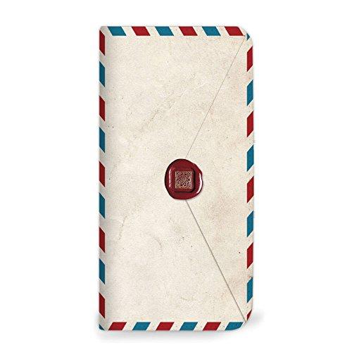 mitas Xperia A4 SO-04G ケース 手帳型 ベルトなし 手紙 封筒 切手 D (179) NB-0231-D/SO-04G