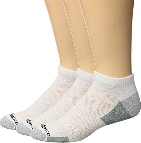 New Balance Lot de 3 paires de chaussettes basses unisexes L blanc