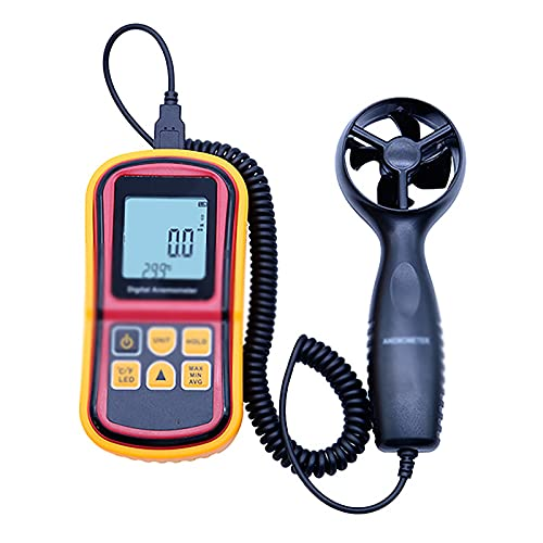 ZzheHou Windmesser Digital-Split-Anemometer-Anemometer Luftstromzähler Handheld-Anemometer (Farbe : Yellow, Size : 14.5x7.2x3.5cm)
