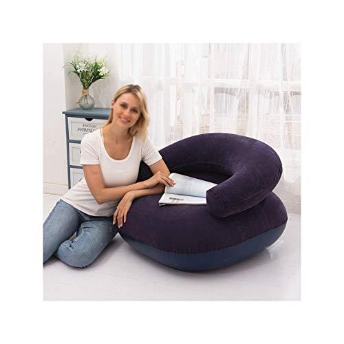BANGSUN Silla inflable ultra suave en forma de U, sofá portátil, para ocio, juegos, color azul