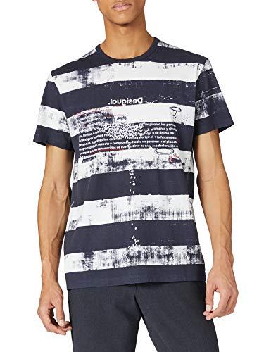 Desigual TS_CALISISTO Camiseta, Azul, M para Hombre