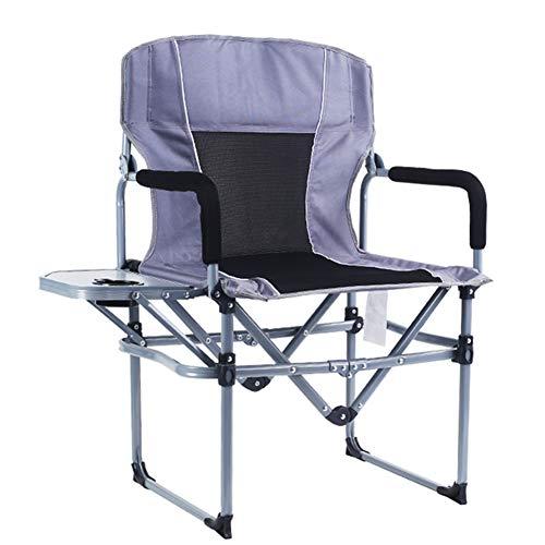 BIN Silla de Director Aluminio Silla de Camping Plegable Lig