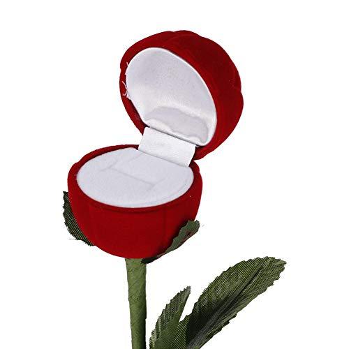 Verloving Bruiloft Doos, Opbergdoos Container Voor Rose Bloem Bruiloft Ring Rose Bloem Gevormd