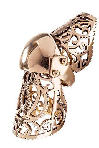 Windalf Großer Statement Ritter Ring Arian 65 mm Gelenkring Mittelalter Bronze-Ring...