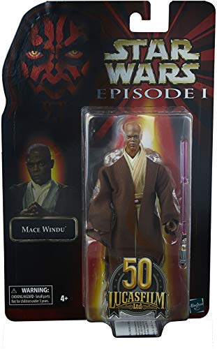 Star Wars The Black Series Mace Windu 6-Inch-Scale Star Wars: The Phantom Menace Lucasfilm 50th Anniversary Collectible Action Figure
