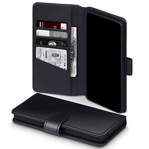 TERRAPIN, Kompatibel mit Samsung Galaxy S10 Lite / A91 Hülle, [ECHT Leder] Brieftasche Hülle Tasche mit Standfunktion Kartenfächer & Bargeld Samsung Galaxy A91 / S10 Lite - Schwarz