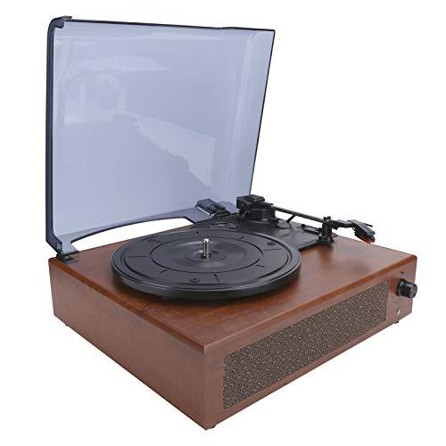 Fockety Tocadiscos Retro de Vinilo, Tocadiscos Bluetooth de 3 velocidades con Salida de 3,5 mm, Tocadiscos USB portátil para Maletas para Discos de Vinilo de 7/10/12 Pulgadas, Registro de películas