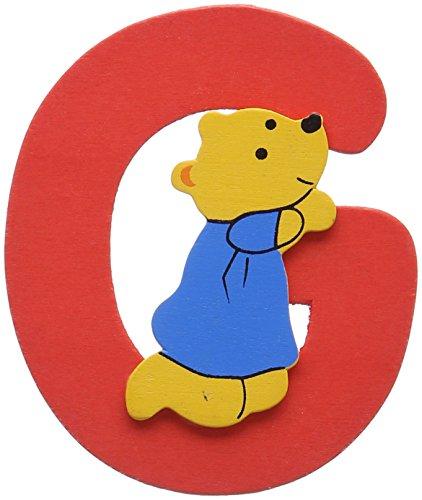 Woodyland - Alfabeto G con Orso, 6 x 8 cm