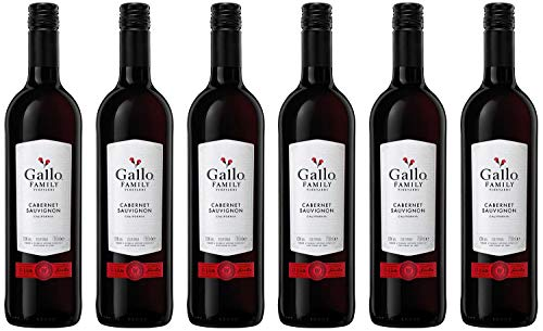 Gallo Family Vineyards Cabernet Sauvignon Ernest und Julio 2017 Halbtrocken (6 x 0.75 l)
