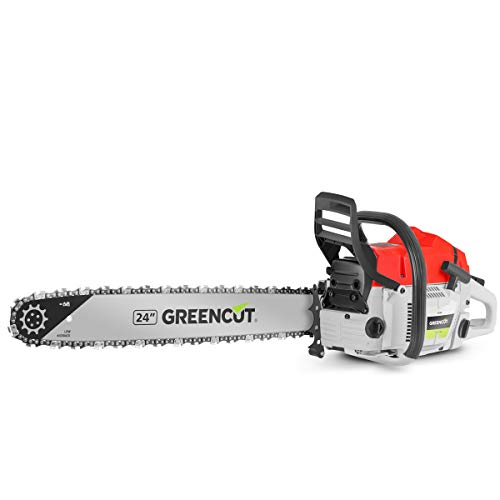 Greencut GS7500 24 Motosierra de Gasolina para Tala, 75 CC