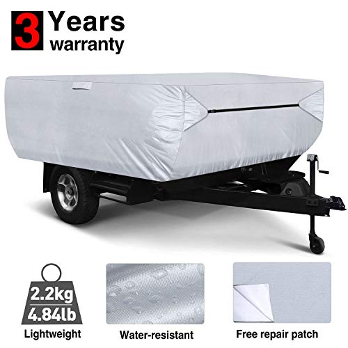 RVMasking Pop Up/Folding Camper Cover, Fits 10' - 12' Trailers
