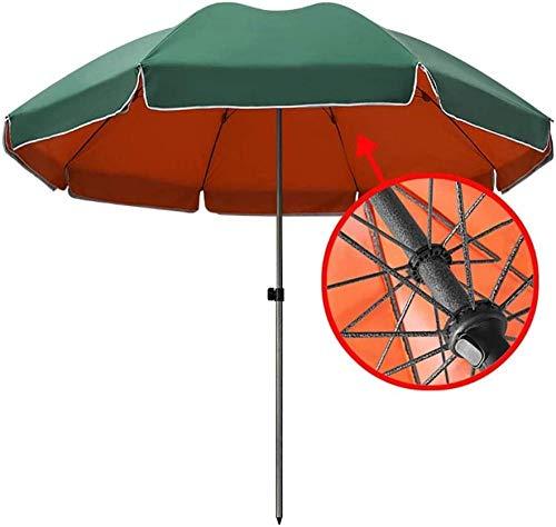 Parasol de Jardin avec Parasol Robuste os Vert Orange Double Couche de marché extérieur Parapluie pour Plage/côté Piscine/Patio (Taille: 2,8 m) (sans Base)-2.4M Improve Improve