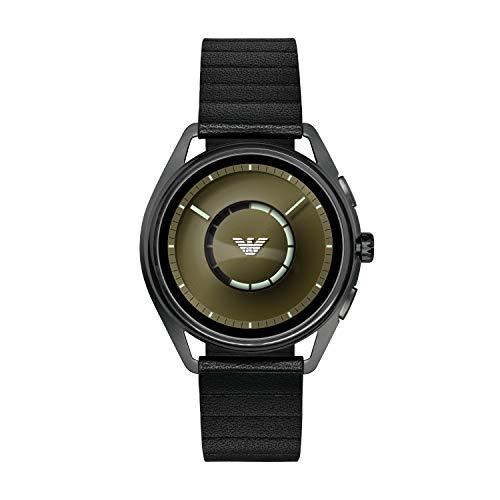Emporio Armani Herren-Smartwatch mit Leder Armband ART5009