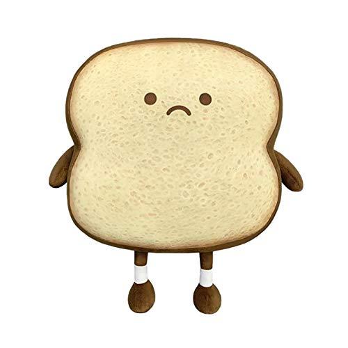 SANGDA Toastbrotkissen, Plüschbrot, Essenskissen, weich, gefüllt, Brot, Plüschkissen, Gesichtsausdruck, Toastbrot, Spielzeug, für Kinder und Erwachsene, Geschenk