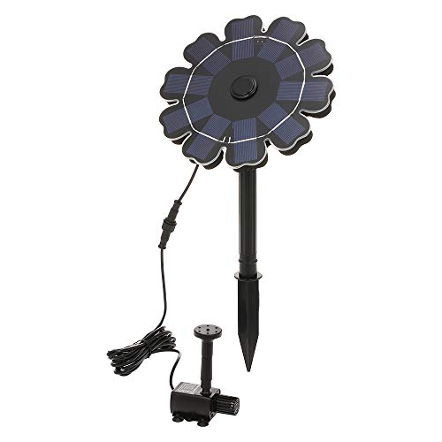 Benkeg - Bomba de energía solar para baño de pájaros (7,7)
