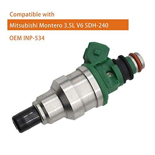 GLYHE Fuel Injector SDH240 INP-534 MD189021 Kompatibel mit Mitsubishi Montero 3.5L V6 SDH240,Inp534