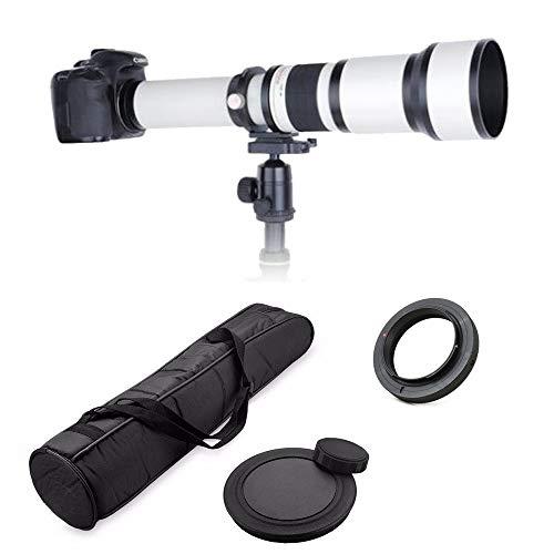 JINTU 650-1300mm Telephoto Zoom Camera Lens Manual Focus for Canon EOS DSLR 2000D 4000D 5000D 5D III...