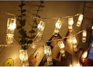 JUNSHUO Led Light Verlichting Foto Slinger met Clips - 50 LED & Knijpers - Lengte 500cm - Warm licht - Bruiloft - Trouweri...