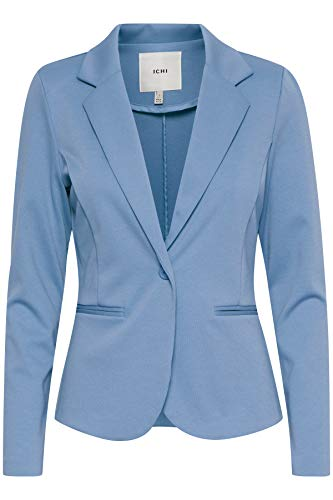 ICHI Damen Kate Lässiger Business-Blazer, 183922_Coronet Blue, M