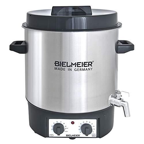"""BIELMEIER Einkochautomat Glühweinkocher Einkochtopf 27 Liter Auslaufhahn Edelstahl 3/4\"""" 1800 W BHG495.3"""