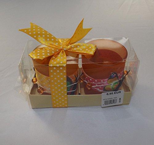 GILDE Handwerk Set Windlicht Schmetterling orange pink grün Geschenk Glas 48143 Dekoration Geschenkidee