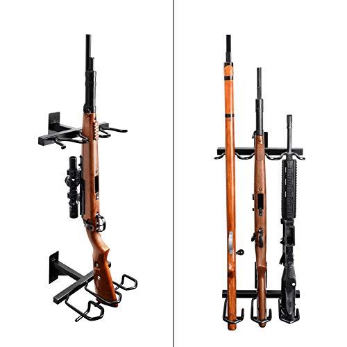 Adoreal Gun Rack, Gun Rack Wall Mount for Rifles and Shotguns, Rifle Rack - Heavy Duty Steel, 3-Slot
